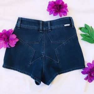 Wrangler high waist denim shorts star booty